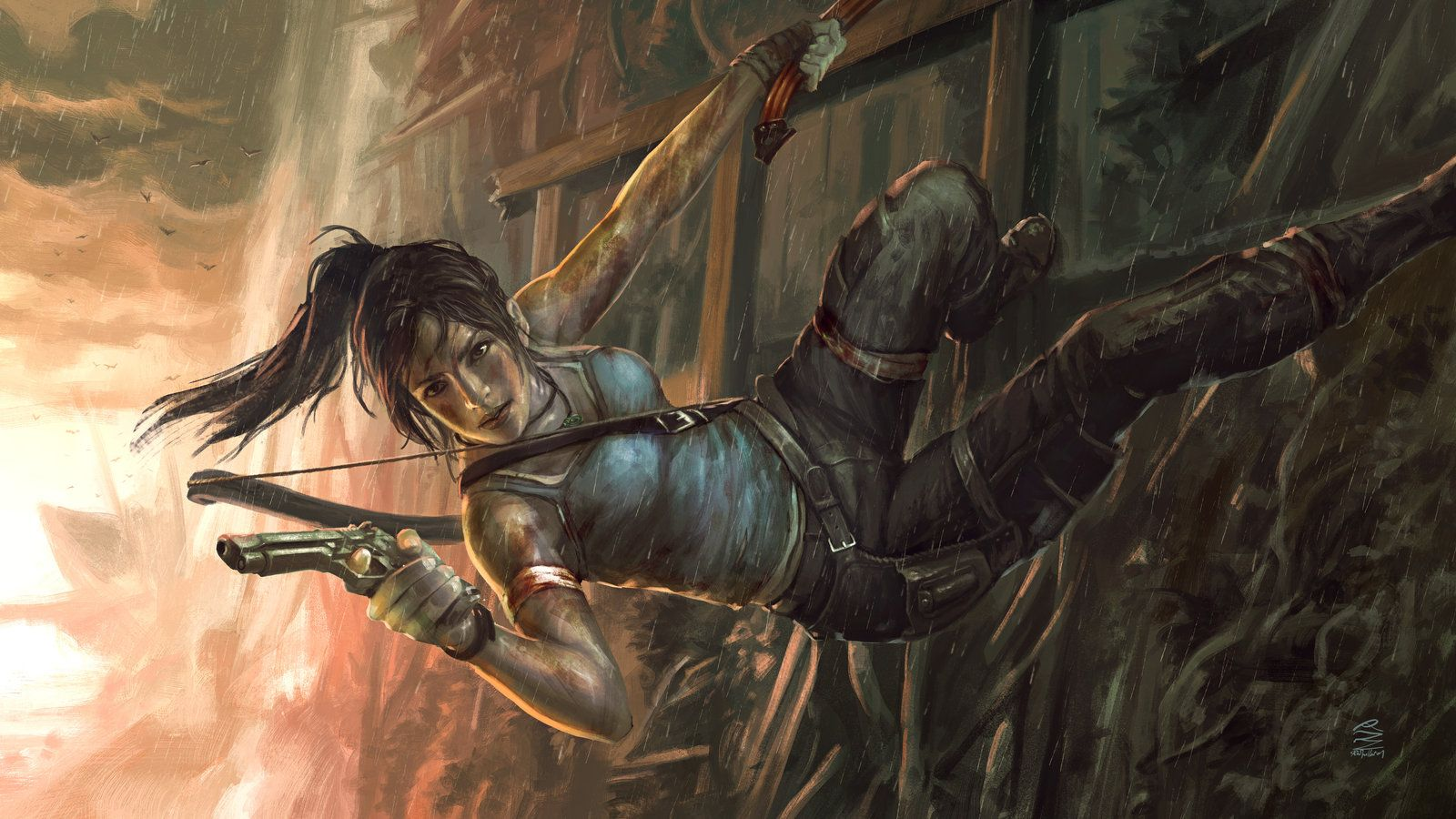 Lady Croft the Tomb Rider  (* by remoraz.deviantart.com on @deviantART