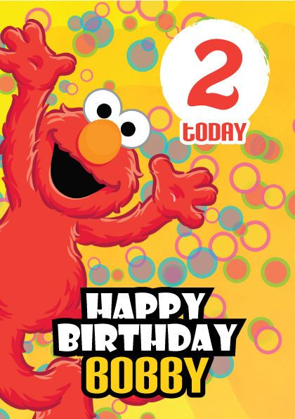 Elmo Says Personalised Kids Birthday Card A5 – Personalised Kids Birthday Cards