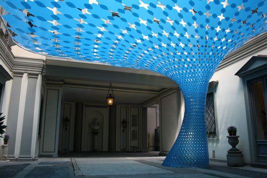 Wonderful Courtyard Cover Design | Milan Design Week 2008, Milan Design 2008, Zona  Tortona 2008