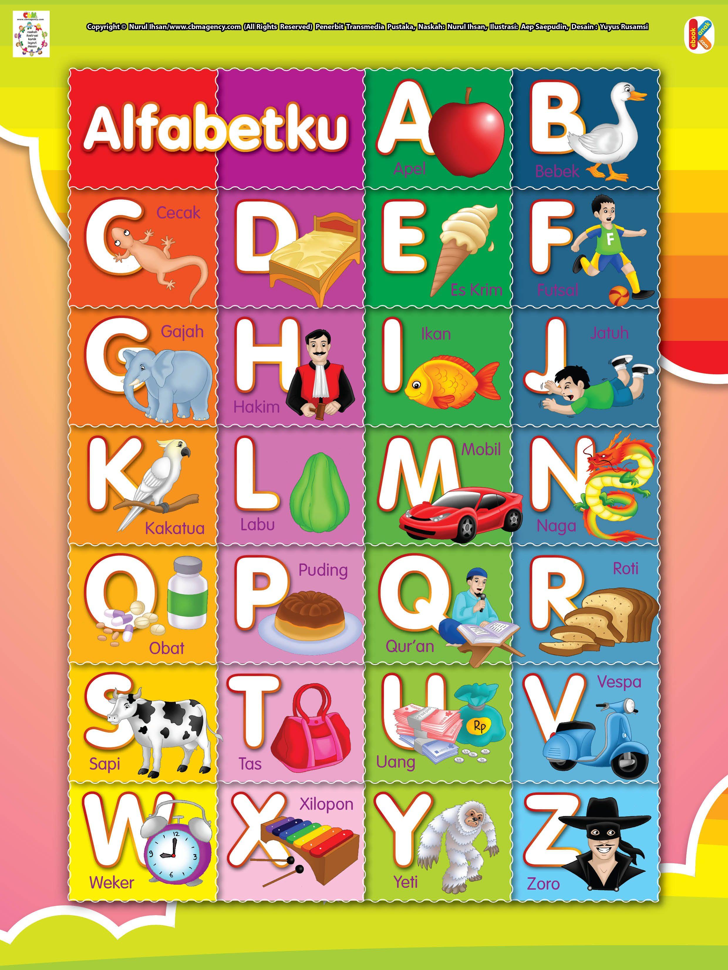Membaca dan Menulis Huruf Alfabet Alfabet, Huruf, Belajar