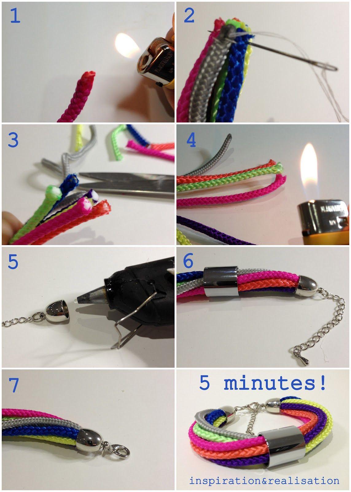 DIY rope style link bracelet