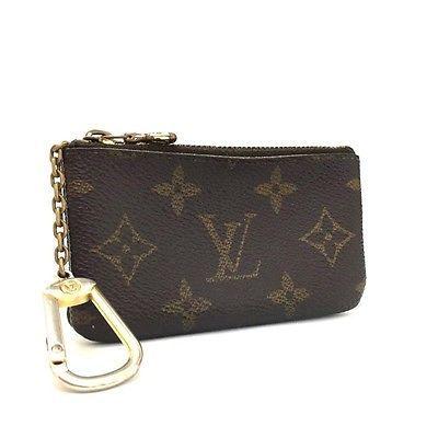 100% Authentic Louis Vuitton Monogram Pochette Cles Wallet Coin Purse /403