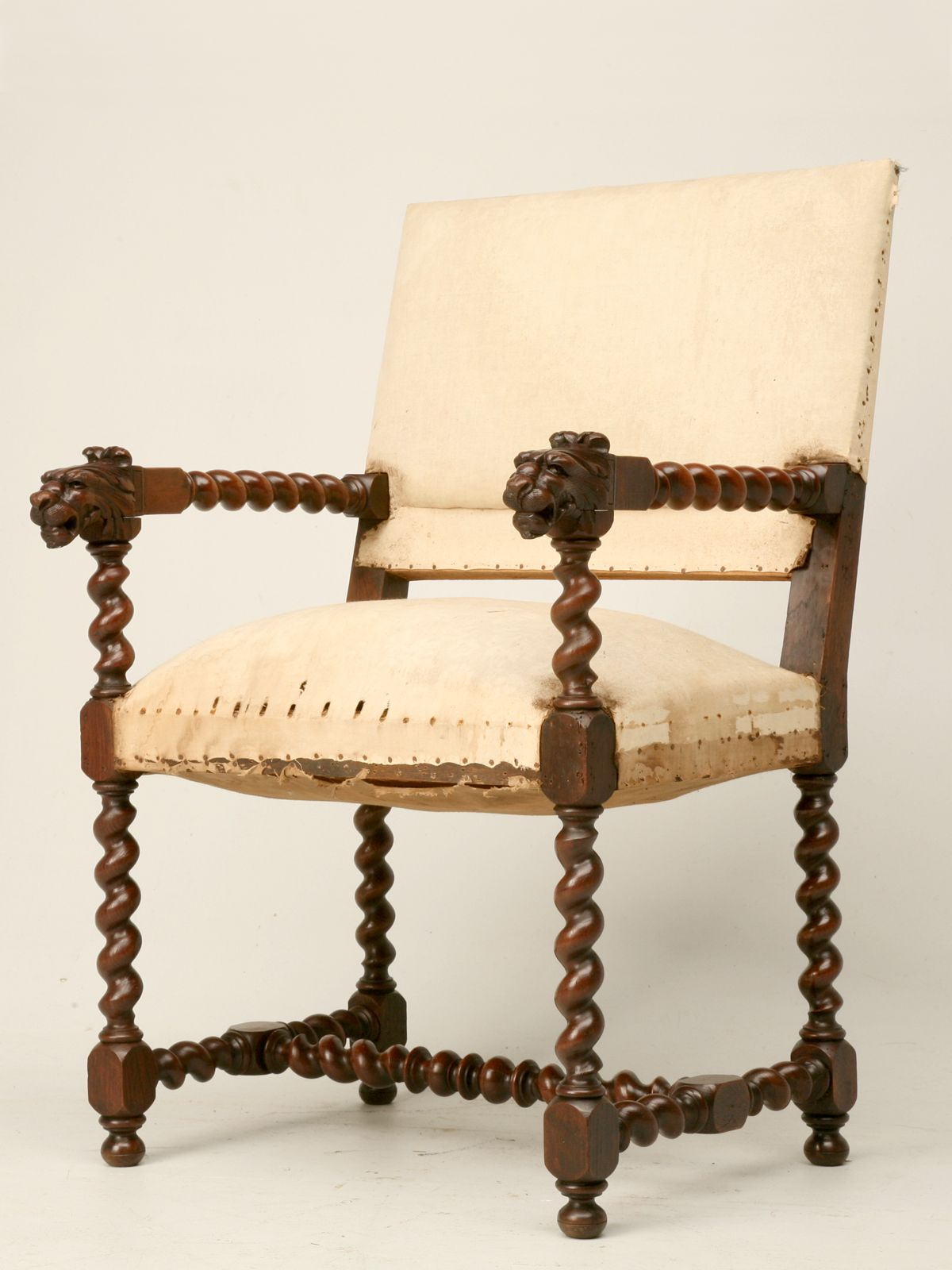 Antique Louis XIII Style Throne Chair