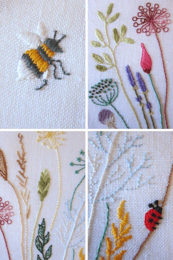 Free Floral Meadow Embroidery Pattern Embroidery Detail And Stitch
