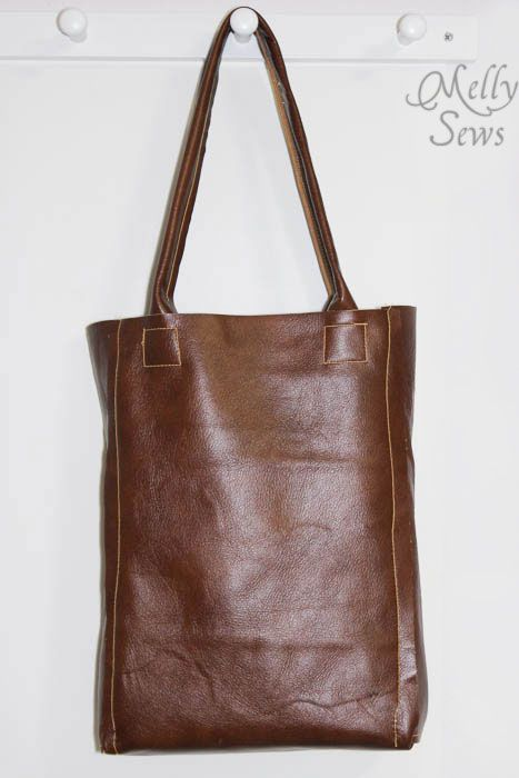 Leather Tote Bag Tutorial | Pinterest | Tote tutorial, Sewing diy ...