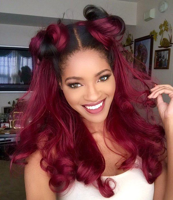 H A I R S P I R A T I O N Magenta Hair Hair Styles Brown Ombre Hair Color