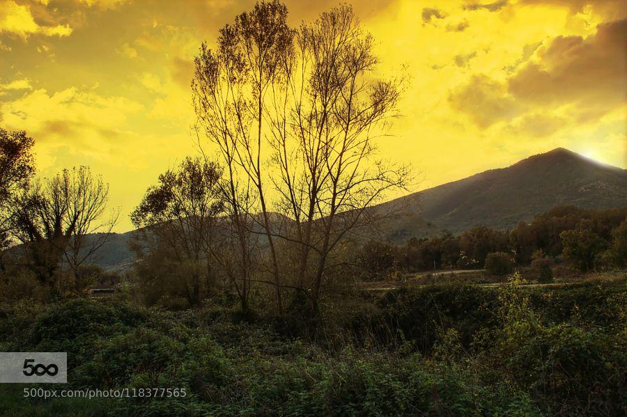 Sunset2 - Pinned by Mak Khalaf Landscapes CairaCassinoautumnhillmontecassinoorangesettembreskysunsunsetyellow by azakinf