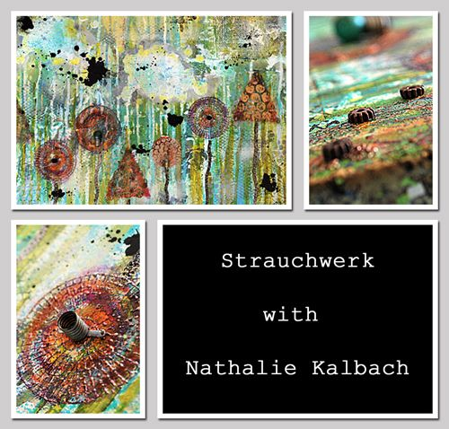 Strauchwerk - Join @Nathalie Kalbach  for Scrap 2014 in Germany featuring her *n Studios stamps by #Stampendous!