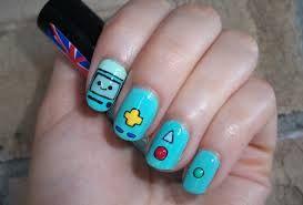 Adventure time nail art BMO