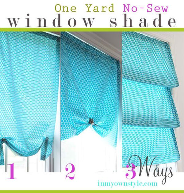 20 Uber Easy No Sew DIY Curtains