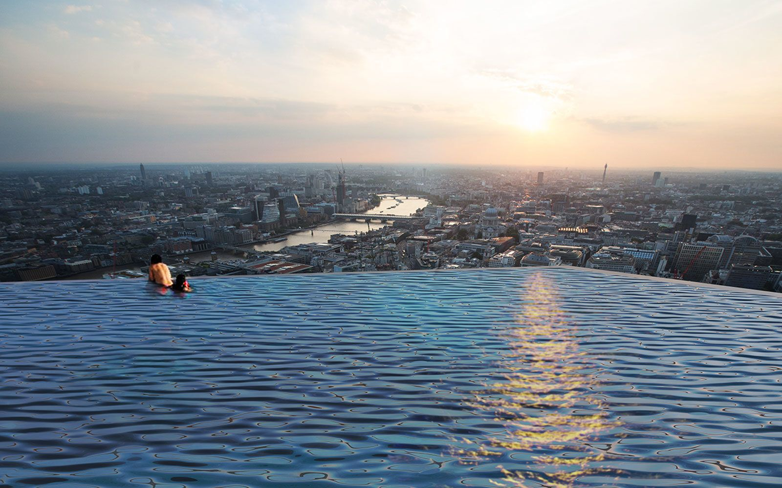 The World S First Rooftop Infinity Pool With 360 Degree