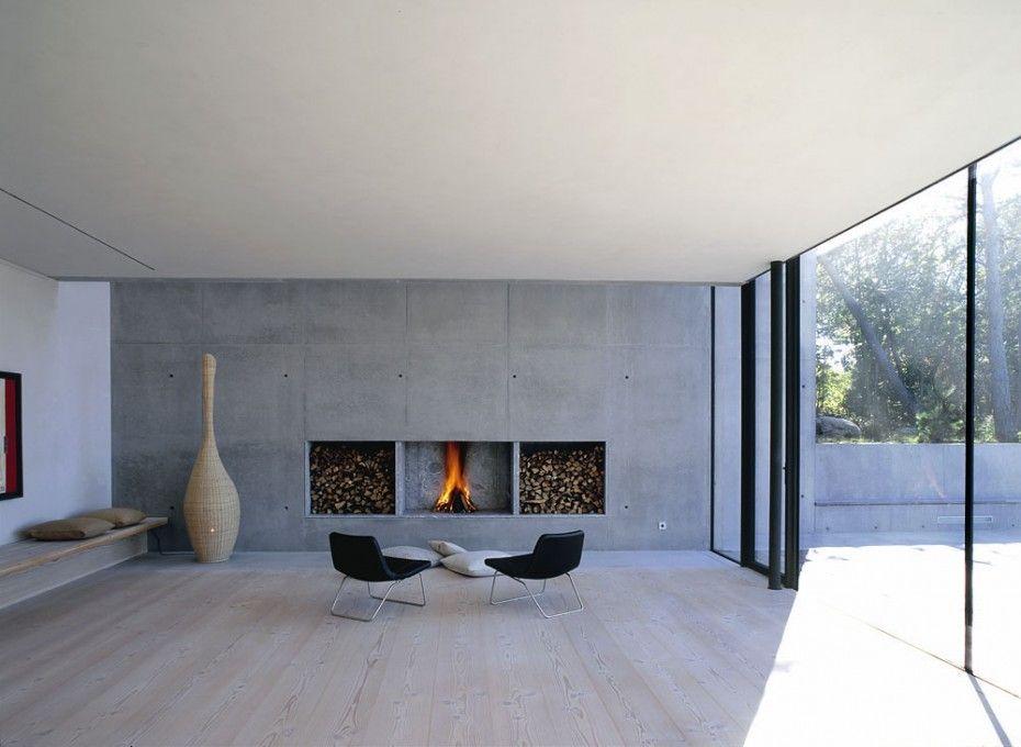Fireplace Fireplaces Pinterest Espacios - paredes de cemento