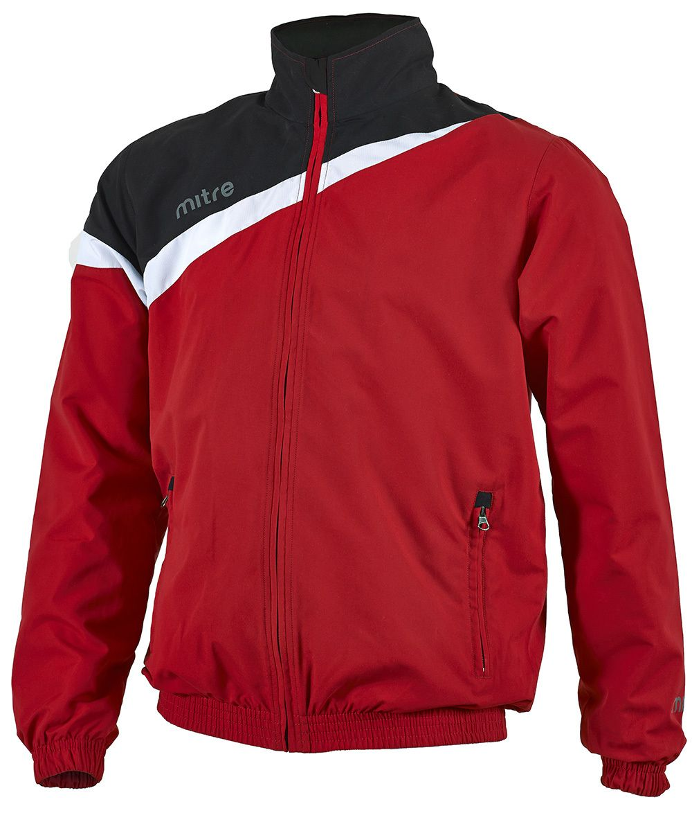 026fddd97 New teamwear! Mitre Primero Rain Jacket (Scarlet/Black/White) SKU ...