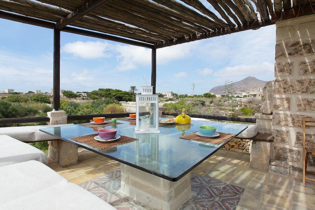 Favignana villa rental terrace Sicily villas