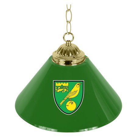 Premier League Norwich City Single Shade Brass Bar Lamp, Green - walmart norwich
