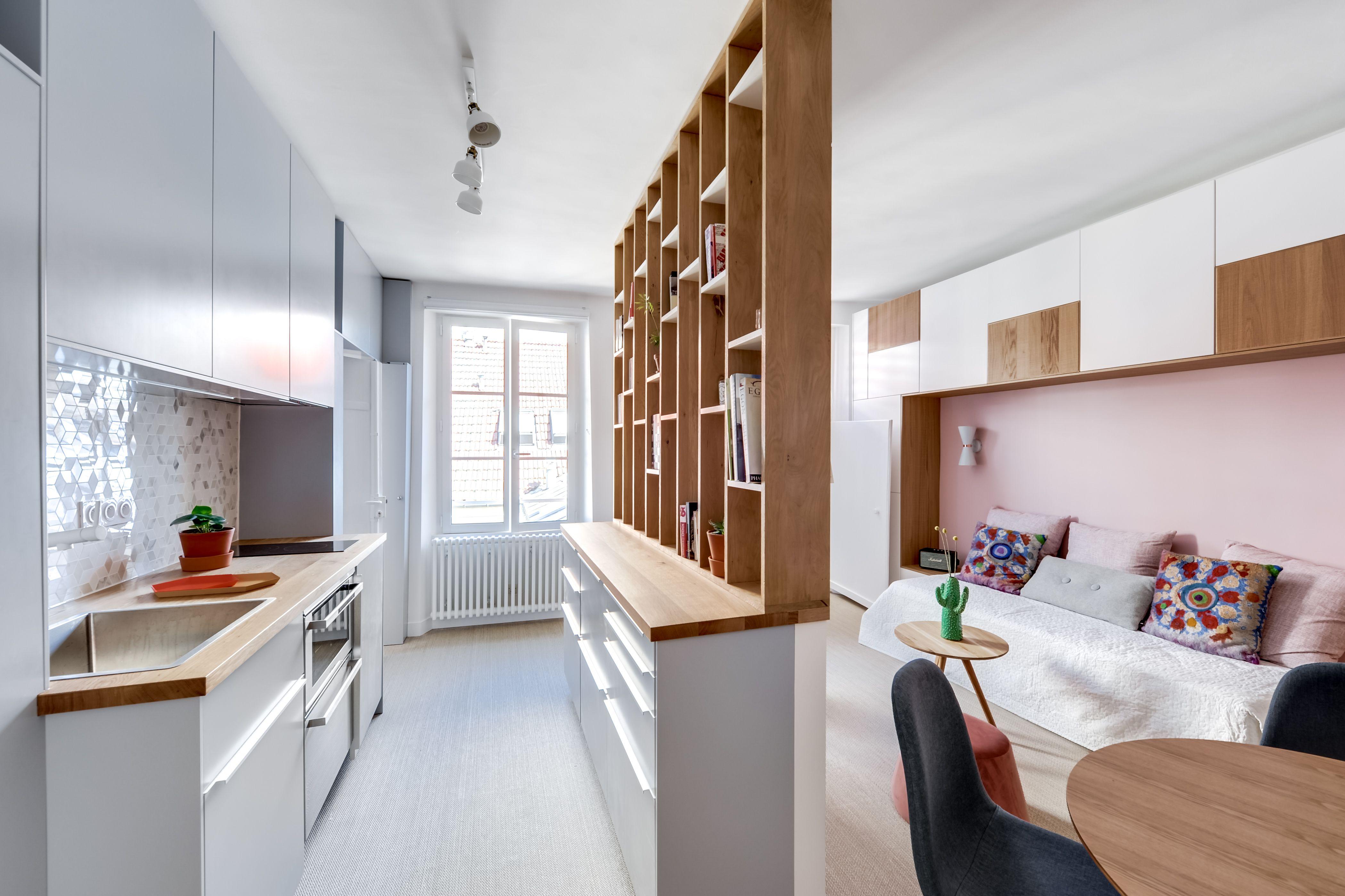 cuisine salle manger salon rnovation complte dun appartement de 28