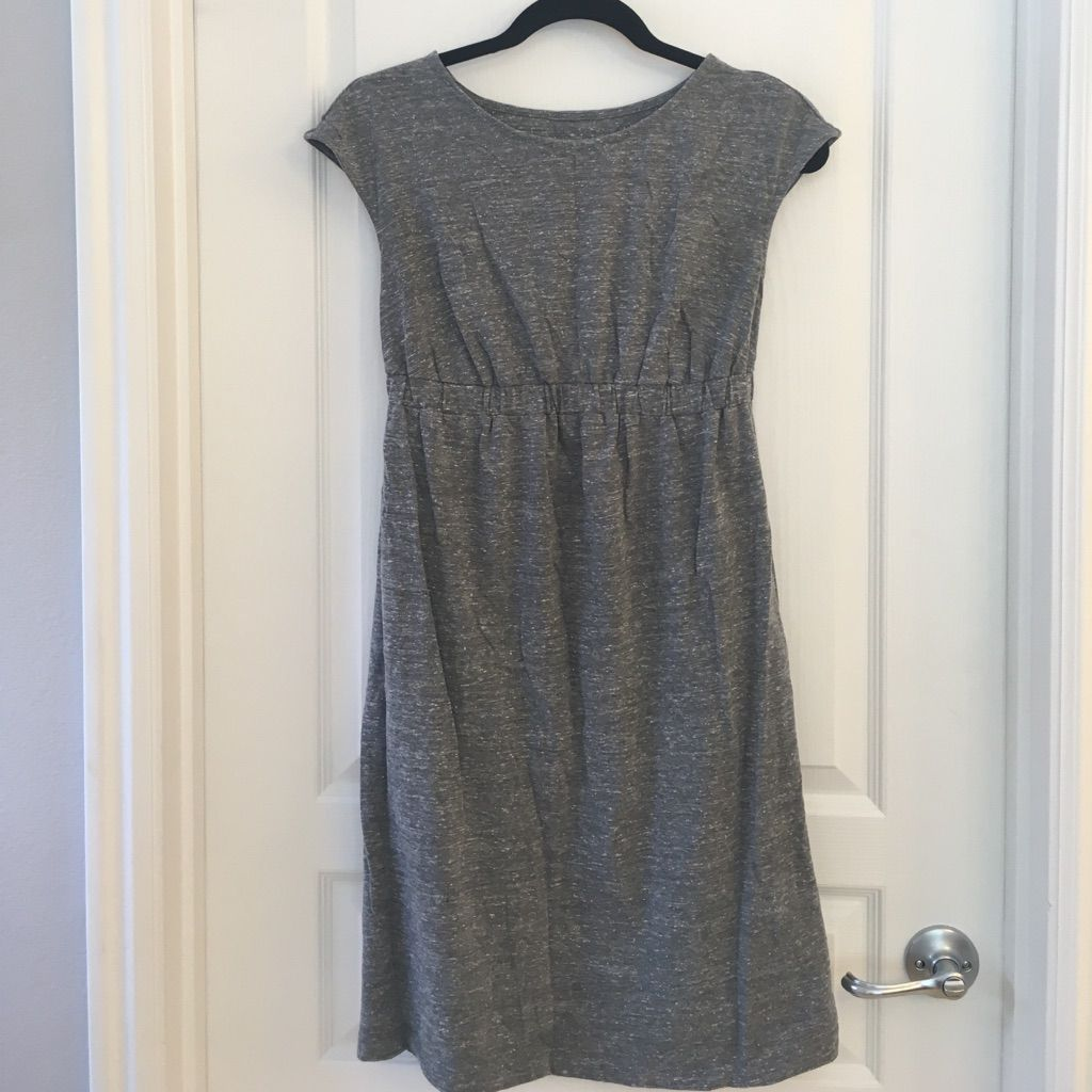 Liz lange empire waist maternity dress heather grey and products