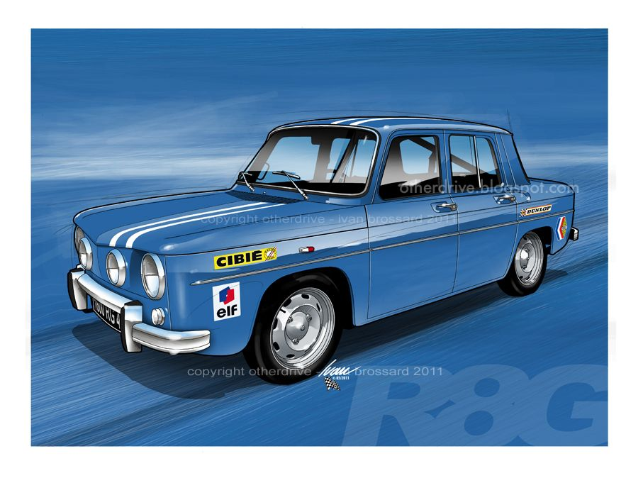 otherdrive renault 8 gordini auto pinterest voitures dessin et recherche. Black Bedroom Furniture Sets. Home Design Ideas