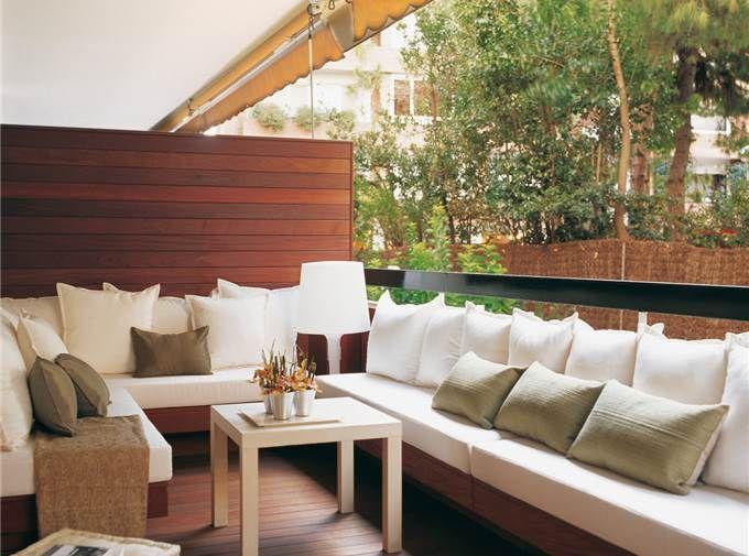 1 Banco En Esquina Terraza Muebles Para Terrazas