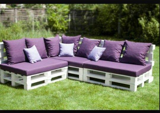 Sedacka n bytek z palet pinterest muebles muebles for Cojin para muebles de jardin en palet