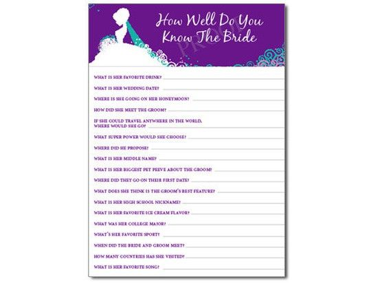 How Well Do You Know The Bride Game PDF