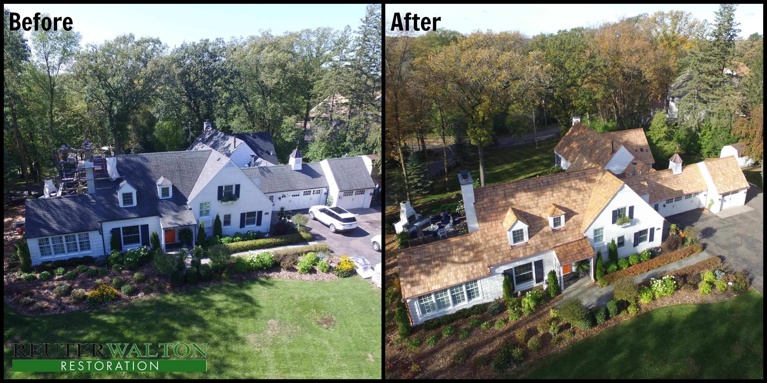 Best Before And After Of Cedar Shake Roof Replacement Done By 400 x 300