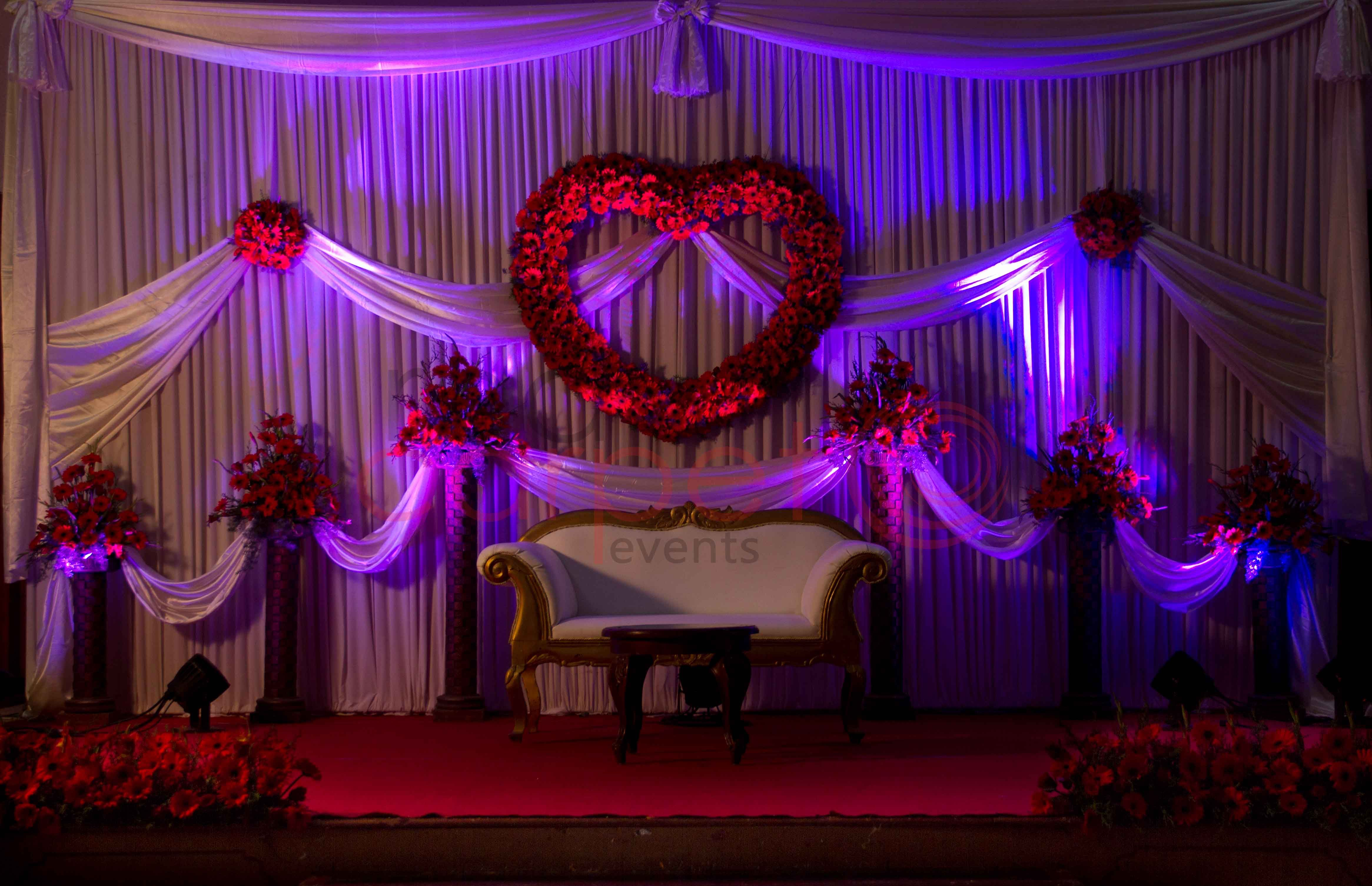 Valentine Theme Wedding Stage Wedding Pinterest