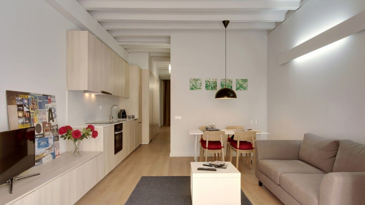 Un apartamento de 60 m2 en gracia pisos peque os for Decoracion de pisos