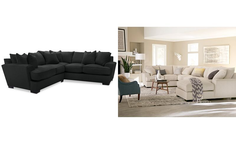 Strange Ainsley 2 Piece L Shaped Fabric Sectional With 6 Toss Pabps2019 Chair Design Images Pabps2019Com