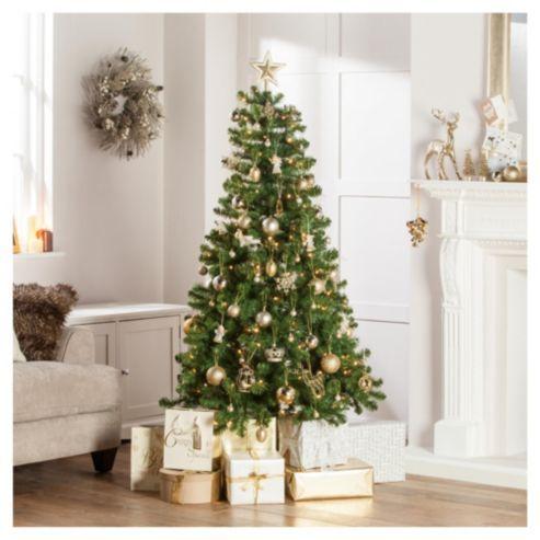 Tesco Western Pine Pre Lit Christmas Tree 6ft 40 Navidad