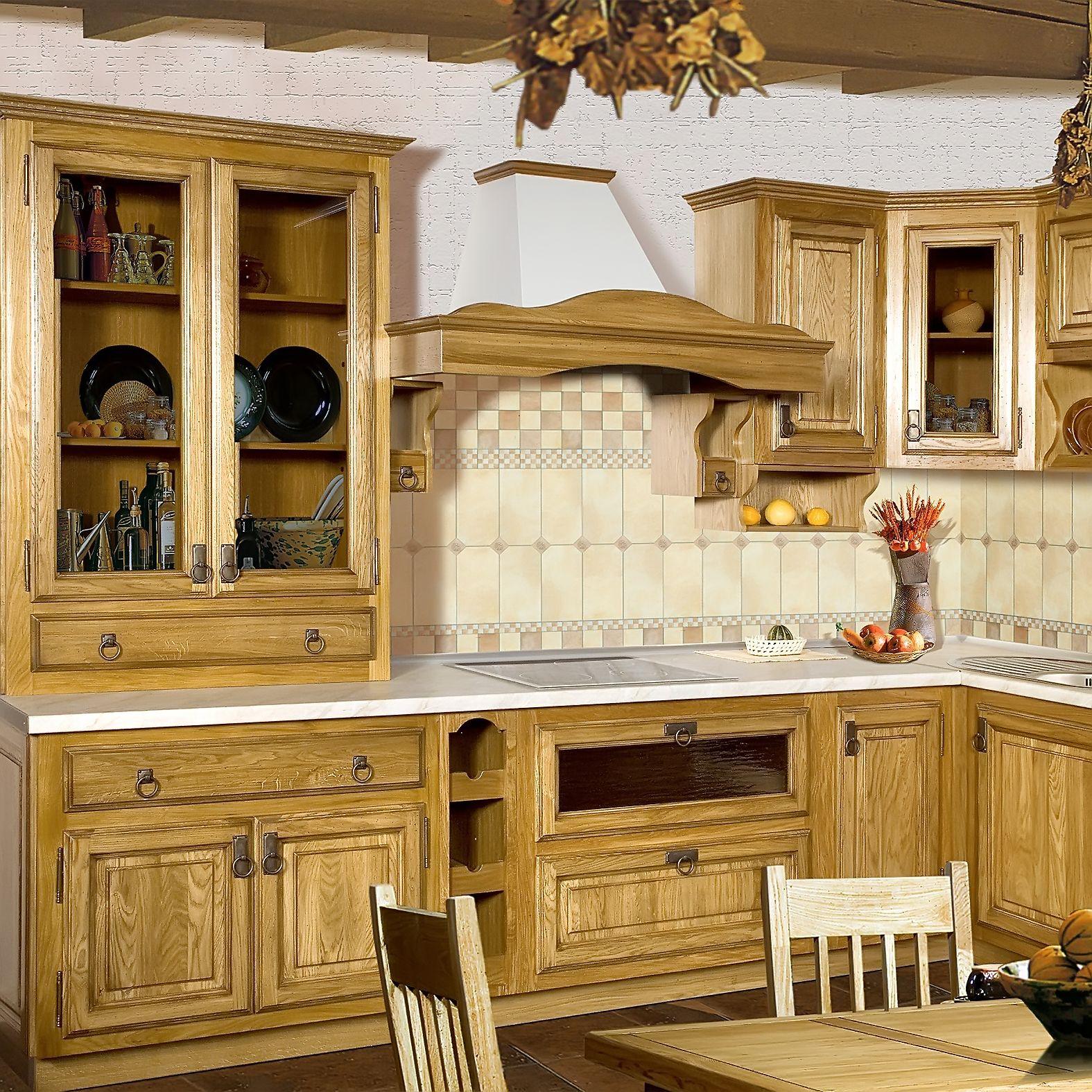 Rustikale Küchenmöbel Aus Massivholz Küchenmöbel Set Küchenzeile 3m