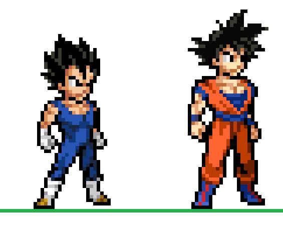 New Goku And Vegeta Sprites By Zenuchiha On Deviantart Pixel Art Characters Pixel Art Games Pixel Art