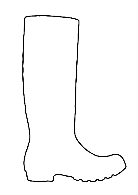 wellington boot outline for colouring in with images