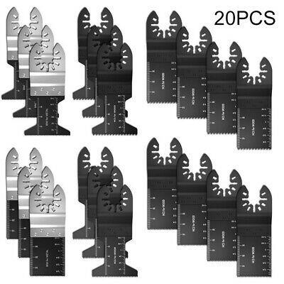 20PCS Oscillating Multi Tool Saw Carbon Blades Cutter Metal Set For Fein Makita