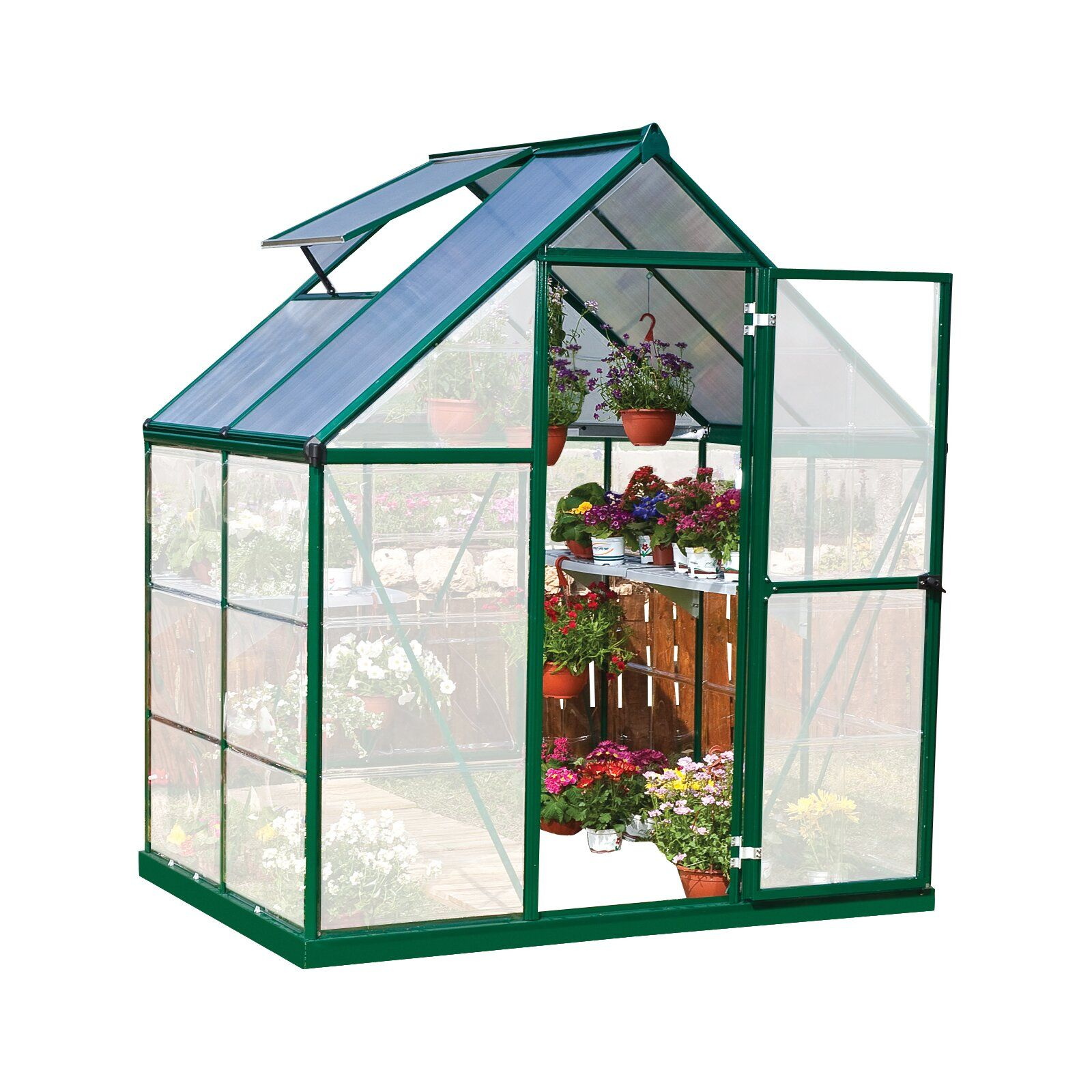 Hybrid 6 Ft  W x 4 5 Ft  D Polycarbonate Greenhouse in 2019