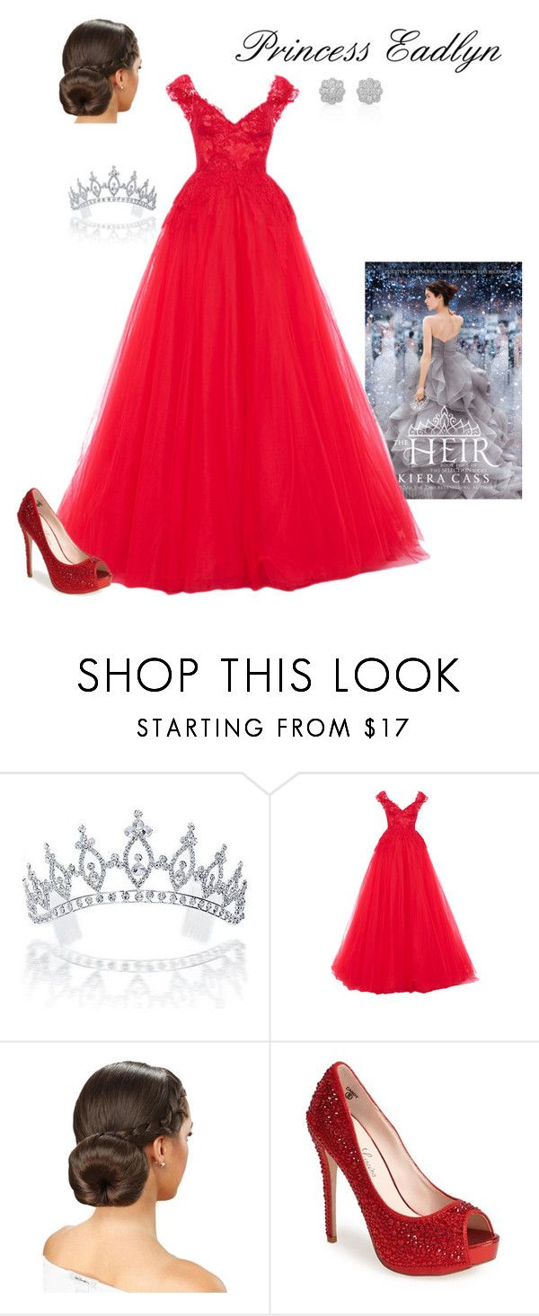 """""""Eadlyn Schreave - Book 4, Chapter 16"""" by briony-jae ❤ liked on Polyvore featuring Bling Jewelry, Monique Lhuillier and Lauren Lorraine"""