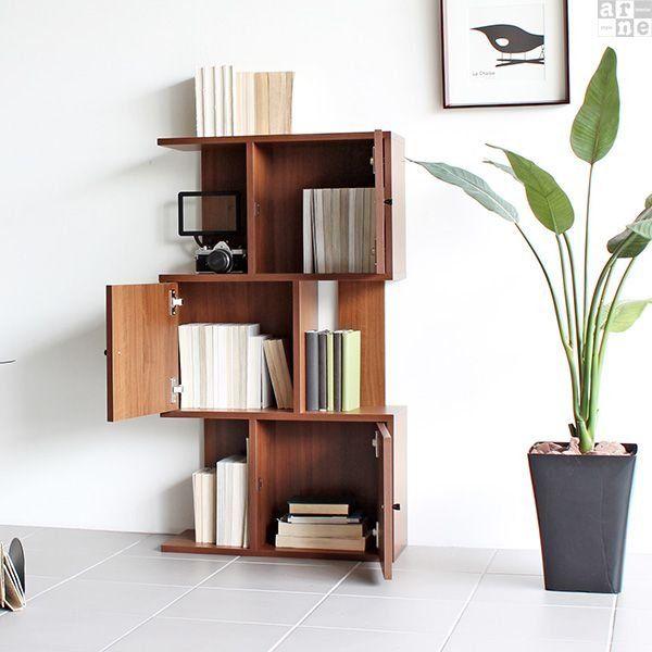 Open shelf 3-stage display cabinet S-shaped tree Scandinavian …