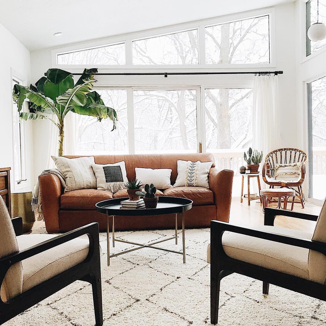 Living Room Inspo Banana Tree Urban Jungle Midcentury Modern Boho Bohemian Neutral D Southwest Decor Living Room Vaulted Living Rooms Living Room Remodel