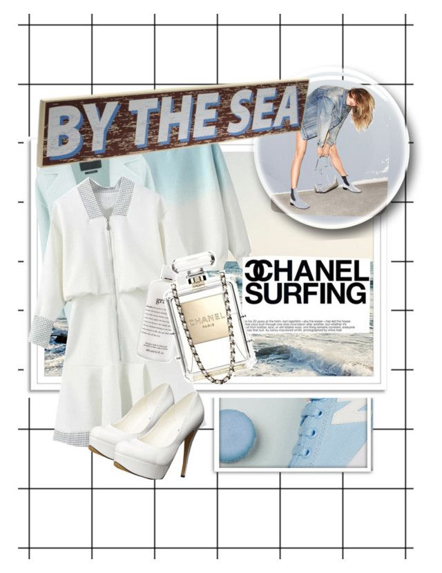 """""""By the Sea"""" by scenical ❤ liked on Polyvore featuring MaxMara, philosophy, Chanel, Deborah Lippmann and Michael Antonio"""
