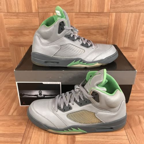 25b4457d3796 ... buy green bean 3m silver nike air jordan 5 retro basketball shoes rip  merf size 12