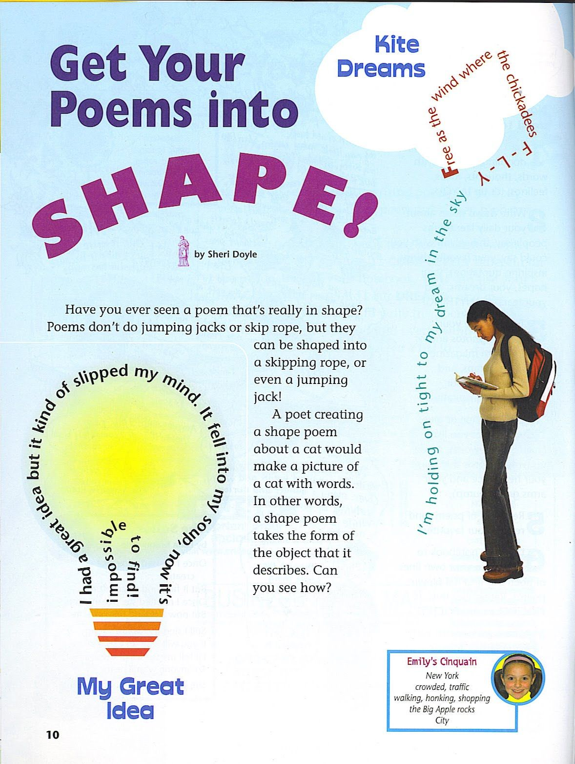 Poetry Templates for Teachers | Sheri Doyle: Poetry Friday - Shape ...
