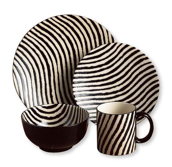 Joseph Abboud Zebra 16-piece Dinnerware Set