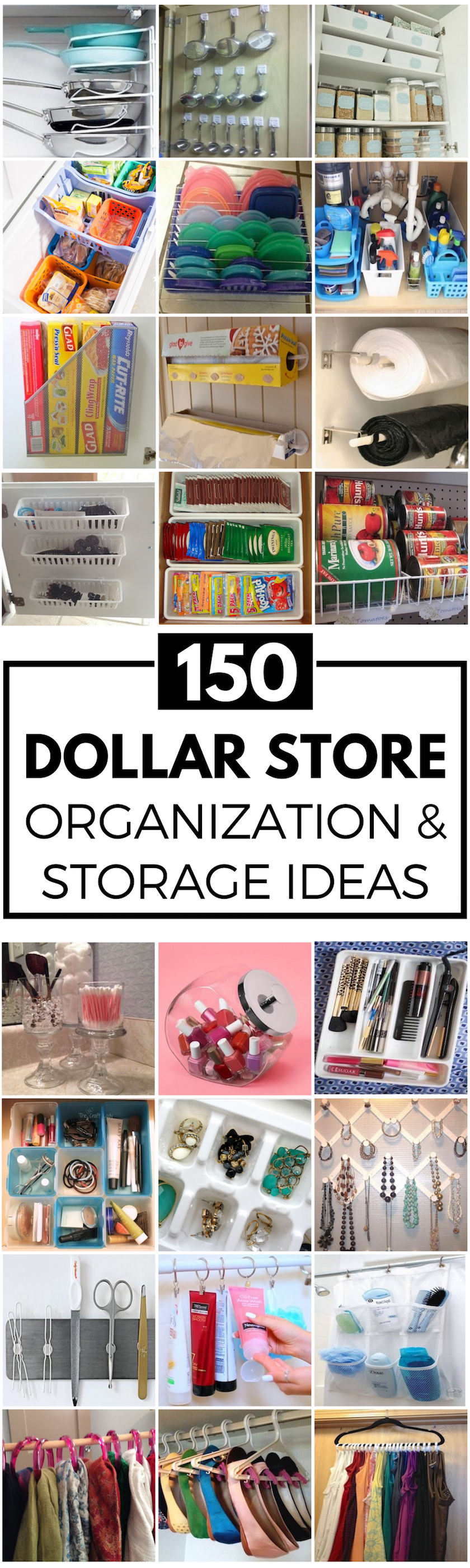 150 DIY Dollar Store Organization and Storage Ideas | Dollar store ...