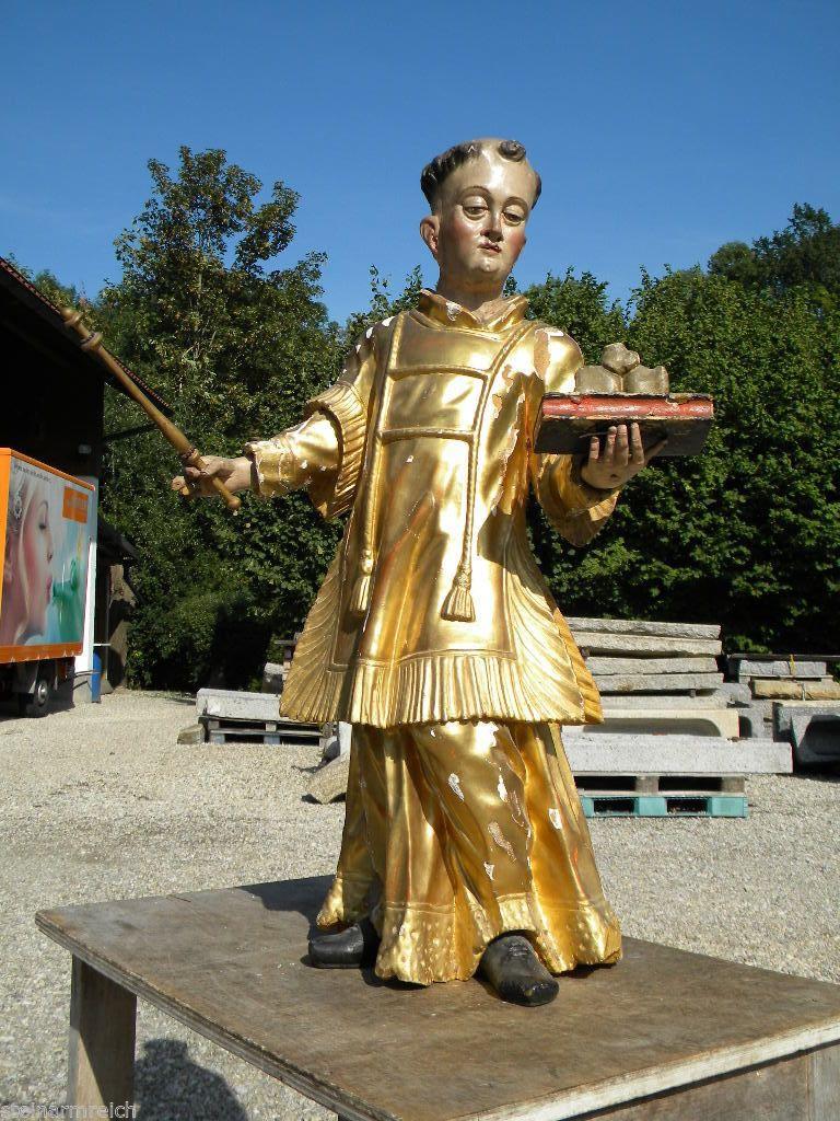 BAROCK HL.STEPHANUS 85cm Holz Skulptur Barockplastik Heiligenfigur 3/4 plastisch | eBay
