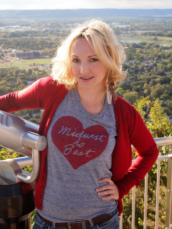 9b08cd710 Women's Midwest is Best Tshirt in Gray and Red - FREE Shipping. $28.00, via  Etsy.