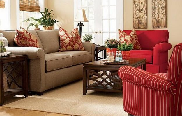 Modern Living Room Designs in Rich and Energetic Red Colors ...