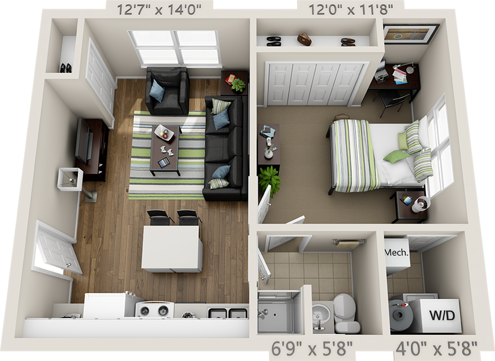 College Park At Midtown Floor Plans Small Apartment Floor Plans Small Apartment Layout House Floor Design