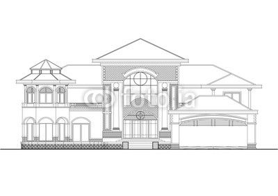 Modern house Sketch Stock photo and royaltyfree images on