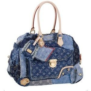 Louis Vuitton Jeans Monogram Handbags Denim