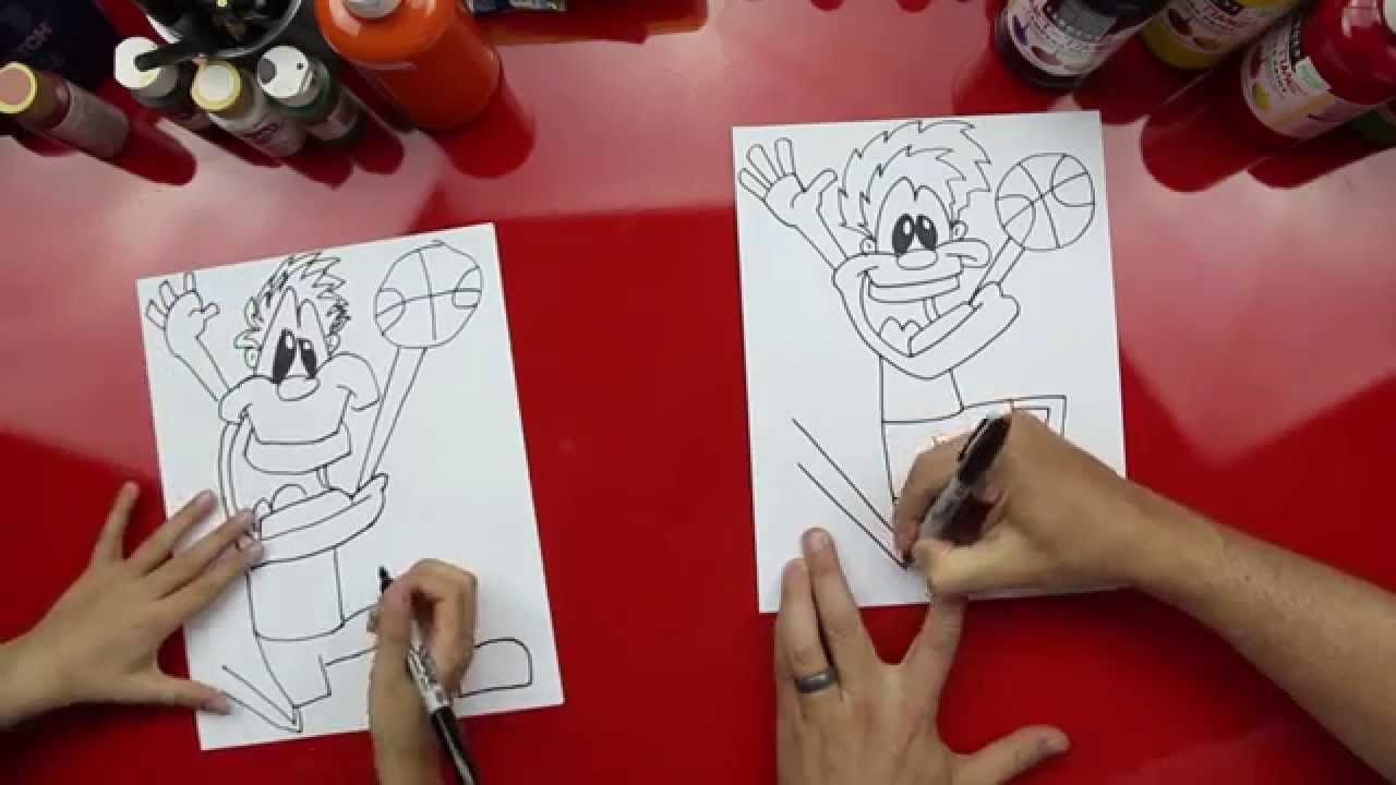 How To Draw A Basketball Player Cartoon Drawings Art Friend Movie Art